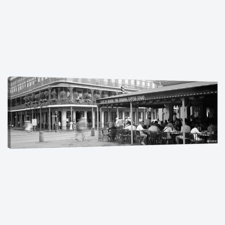Cafe du Monde French Quarter New Orleans LA Canvas Print #PIM11923} by Panoramic Images Canvas Artwork