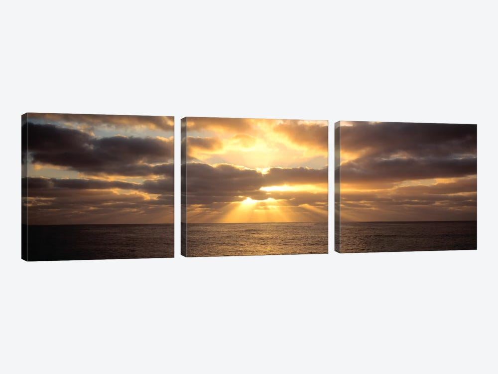 Sunset Sub Antarctic Australia 3-piece Canvas Artwork