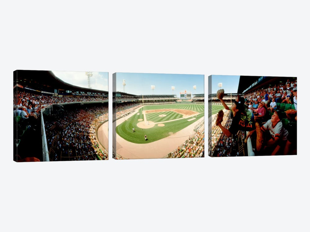 Old Comiskey Park, Chicago, Illinois, USA 3-piece Canvas Art Print