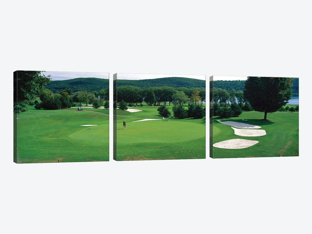 Leatherstocking Golf Course, New York State, USA by Panoramic Images 3-piece Canvas Art