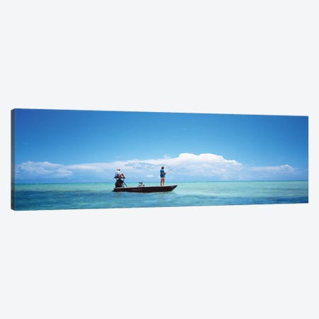 Small Boat Tarpon Fishing, Islamorada, Florida, USA Canvas Print #PIM11945} by Panoramic Images Canvas Art Print