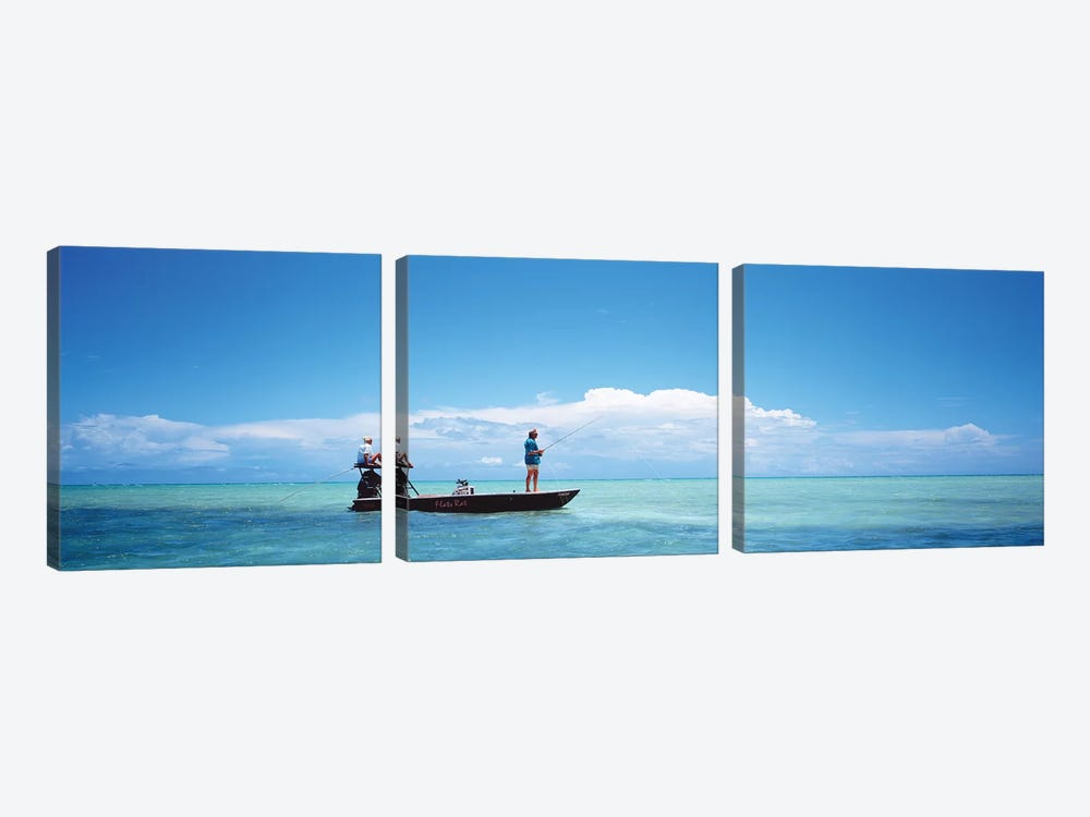 Small Boat Tarpon Fishing, Islamorada, Florida, USA by Panoramic Images 3-piece Art Print