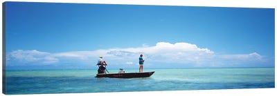 Small Boat Tarpon Fishing, Islamorada, Florida, USA Canvas Art Print