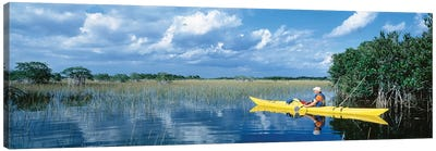 Kayaker In Everglades National Park, Florida, USA Canvas Art Print
