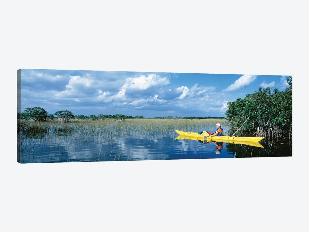Kayaker In Everglades National Park, Florida, USA by Panoramic Images 1-piece Canvas Artwork