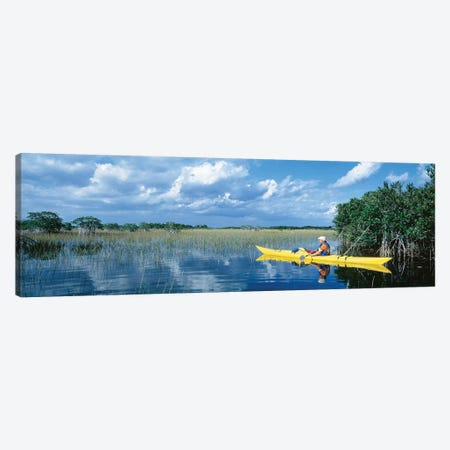 Kayaker In Everglades National Park, Florida, USA Canvas Print #PIM11948} by Panoramic Images Canvas Artwork