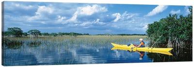 Kayaker In Everglades National Park, Florida, USA Canvas Art Print