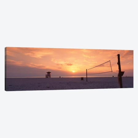 Sunset Over A Beach, Gulf Of Mexico, Venice Beach, Venice, Florida, USA Canvas Print #PIM11955} by Panoramic Images Canvas Art