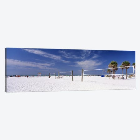 Beach Volleyball Nets, Siesta Beach, Siesta Key, Sarasota County, Florida, USA Canvas Print #PIM11956} by Panoramic Images Canvas Wall Art