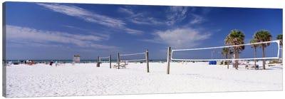 Beach Volleyball Nets, Siesta Beach, Siesta Key, Sarasota County, Florida, USA Canvas Print #PIM11956