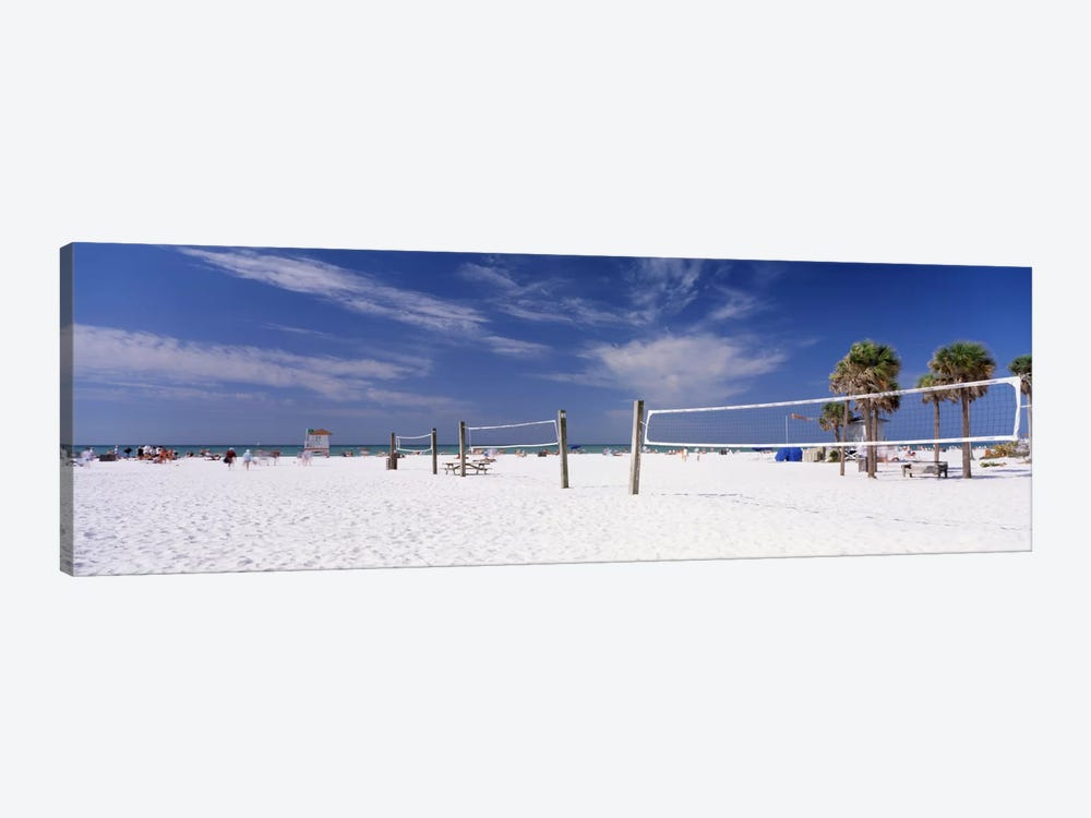 Beach Volleyball Nets, Siesta Beach, Siesta Key, Sarasota County, Florida, USA by Panoramic Images 1-piece Canvas Art Print