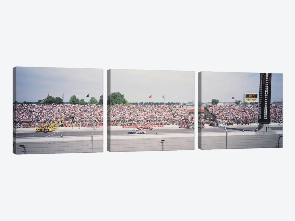 Pit Road, Indianapolis Motor Speedway (The Brickyard), Marion County, Indiana, USA by Panoramic Images 3-piece Canvas Artwork