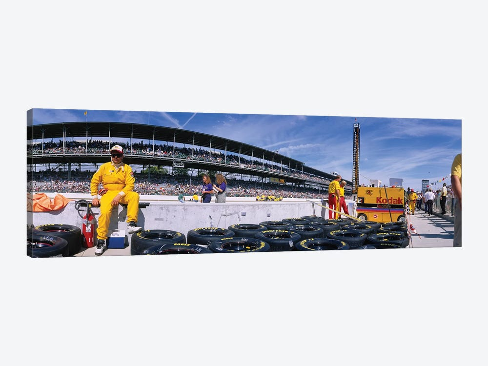Motor Car Racers Preparing For A Race, Brickyard 400, Indianapolis Motor Speedway, Indianapolis, Indiana, USA by Panoramic Images 1-piece Canvas Wall Art