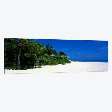 Beach Scene The Maldives Canvas Print #PIM1196} by Panoramic Images Canvas Artwork