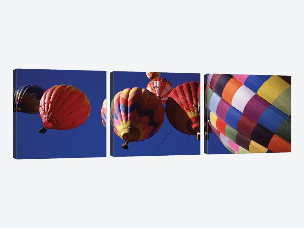 Low angle view of hot air balloons in the sky, Colorado, USA by Panoramic Images 3-piece Art Print