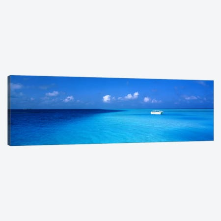 Beach Scene The Maldives Canvas Print #PIM1197} by Panoramic Images Canvas Artwork