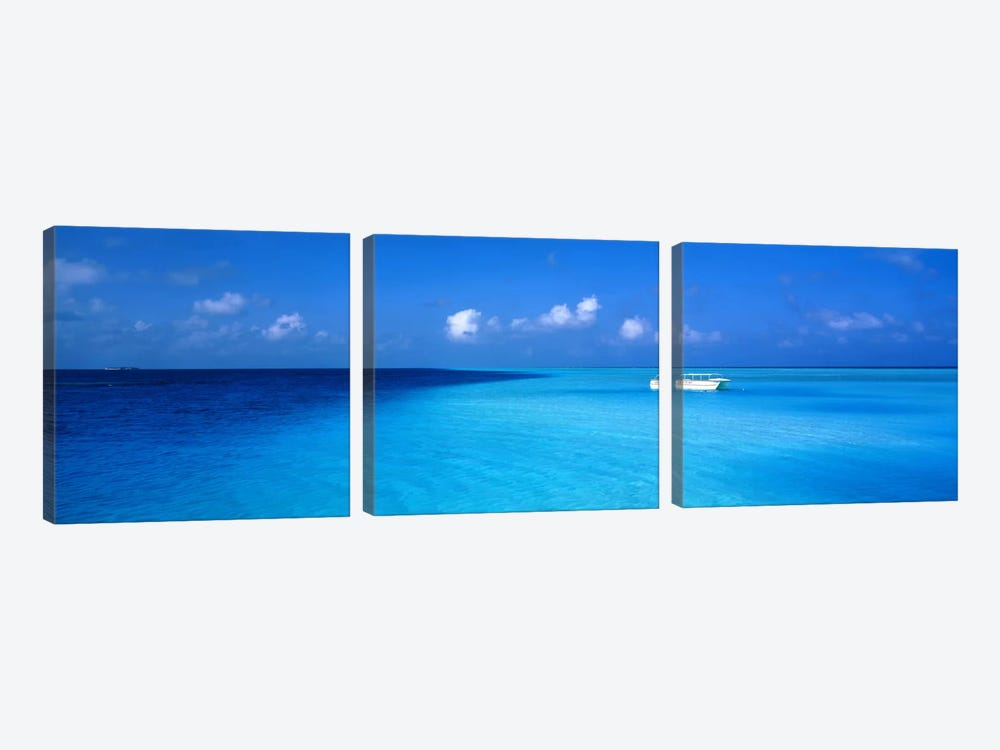 Beach Scene The Maldives by Panoramic Images 3-piece Canvas Print