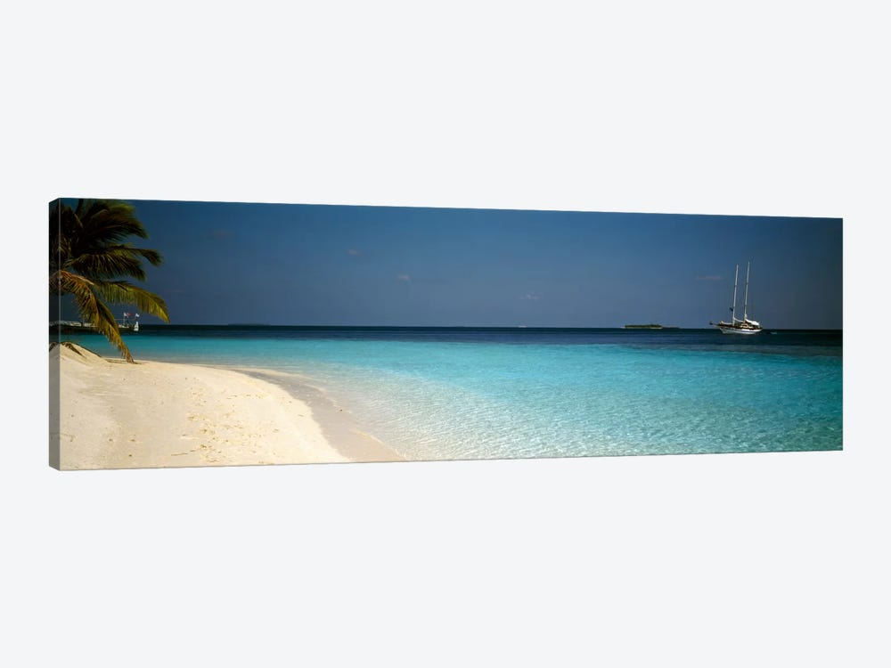 Beach & Boat Scene The Maldives by Panoramic Images 1-piece Canvas Artwork