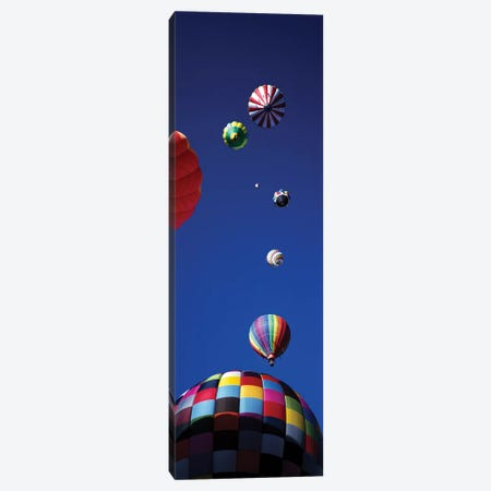 Low angle view of hot air balloons in the sky (vertical), Colorado, USA Canvas Print #PIM11994} by Panoramic Images Canvas Artwork