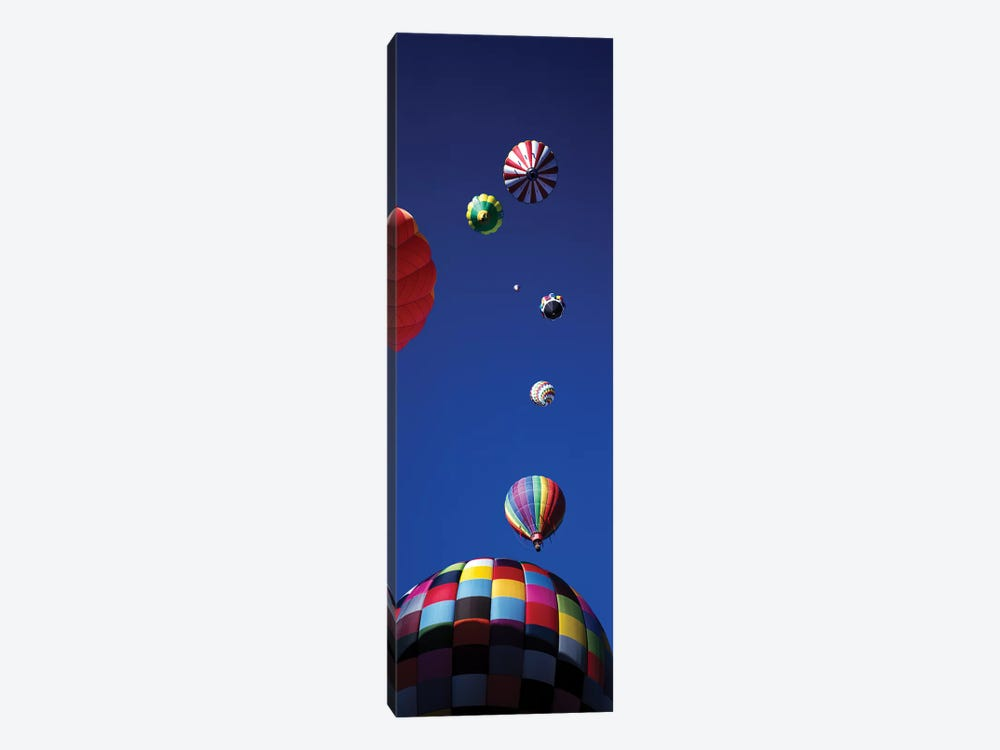 Low angle view of hot air balloons in the sky (vertical), Colorado, USA by Panoramic Images 1-piece Canvas Print