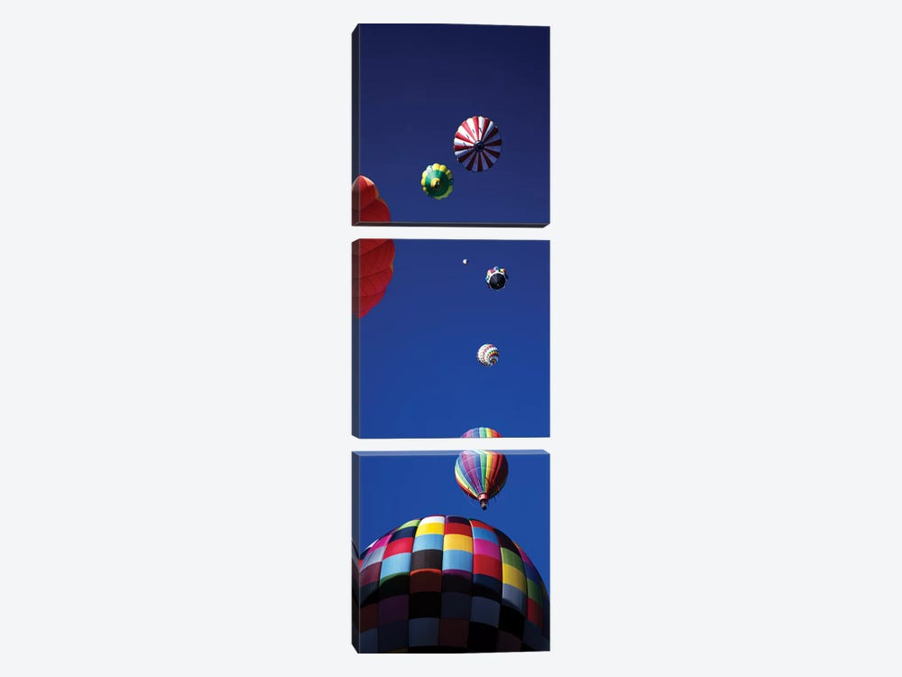 Low angle view of hot air balloons in the sky (vertical), Colorado, USA by Panoramic Images 3-piece Art Print