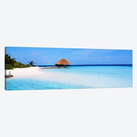 Beach Scene The Maldives Canvas Print #PIM1199} by Panoramic Images Canvas Art Print