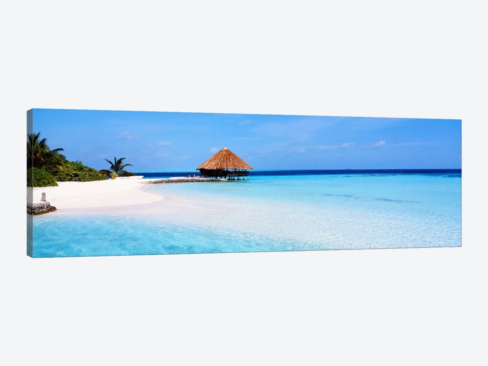Beach Scene The Maldives by Panoramic Images 1-piece Canvas Print