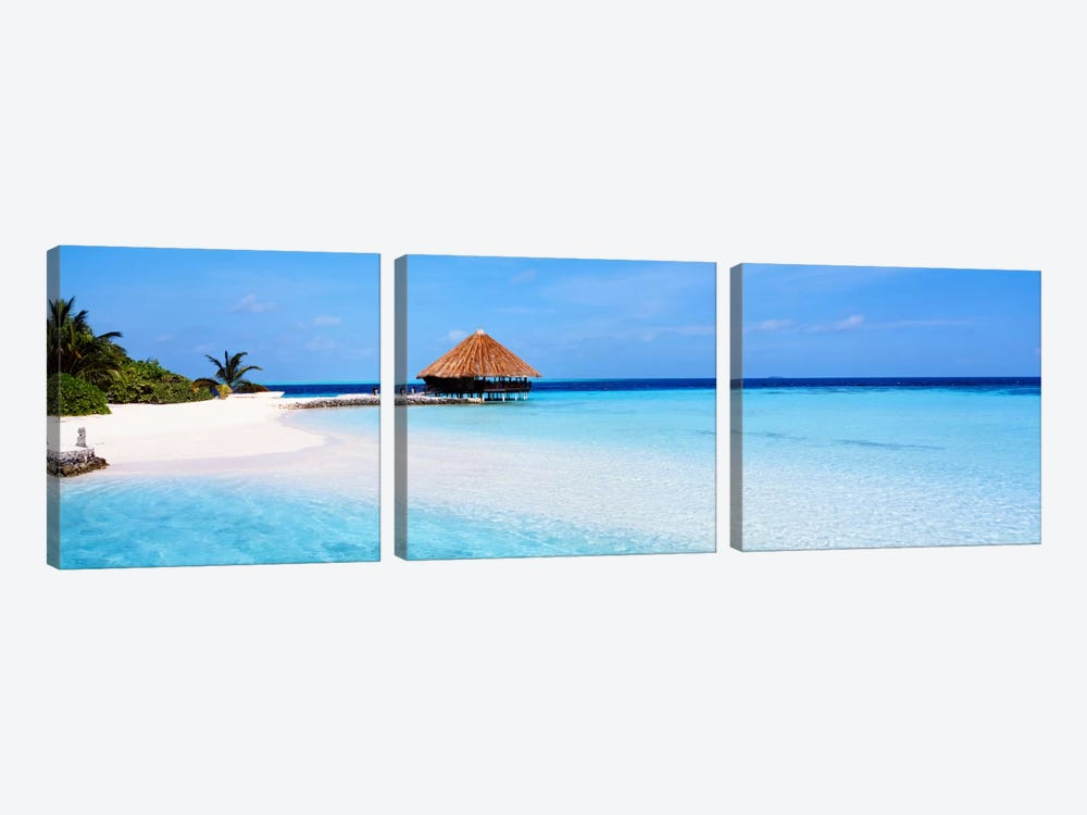 Beach Scene The Maldives by Panoramic Images 3-piece Art Print