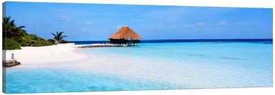 Beach Scene The Maldives Canvas Art Print