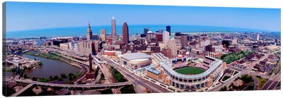 Aerial View Of Jacobs Field, Cleveland, Ohio, USA Canvas Art Print