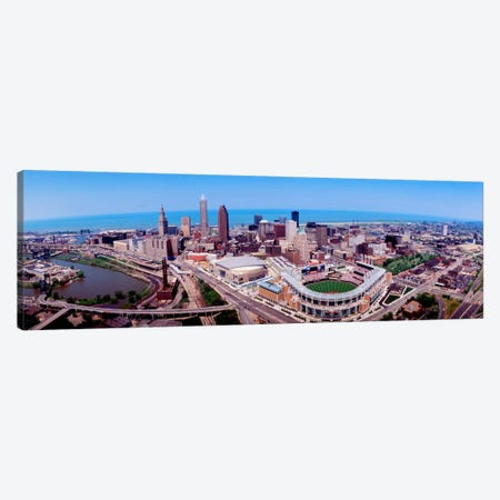 Aerial View Of Jacobs Field, Cleveland, Ohio, USA Canvas Print #PIM119} by Panoramic Images Canvas Art