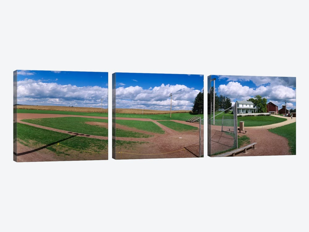 Field Of Dreams, Dyersville, Dubuque County, Iowa, USA by Panoramic Images 3-piece Art Print
