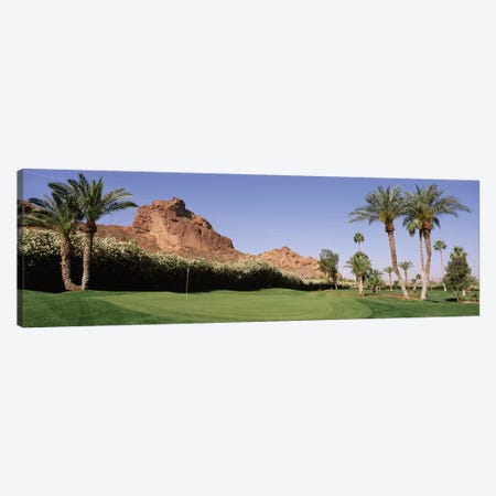 Golf course near rock formations, Paradise Valley, Maricopa County, Arizona, USA Canvas Print #PIM12009} by Panoramic Images Canvas Art Print
