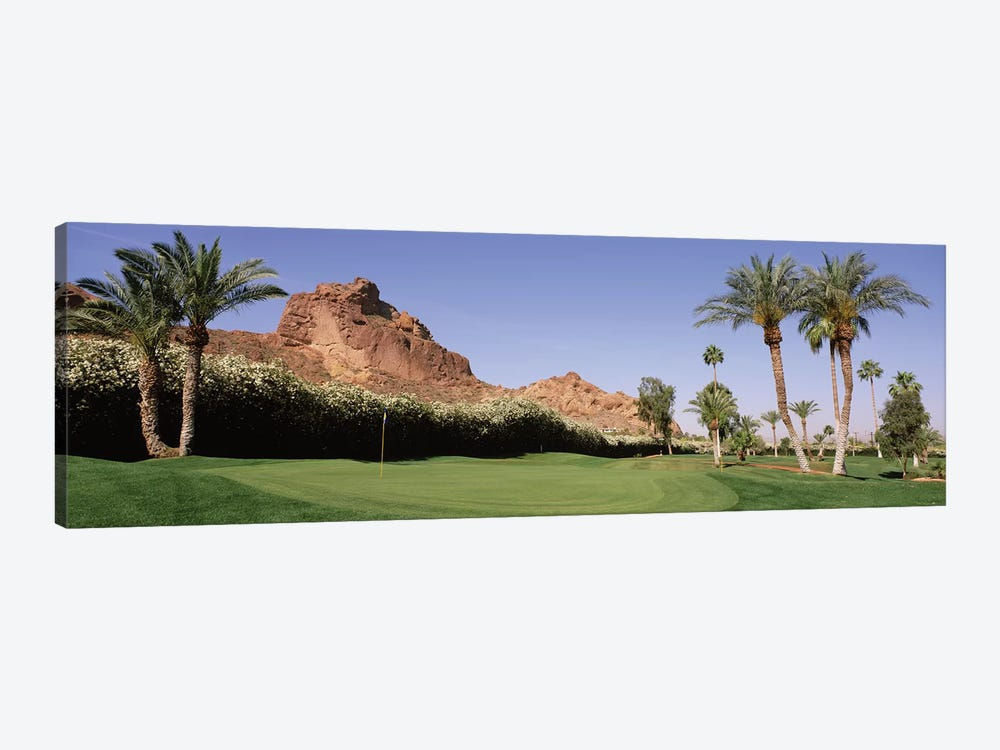 Golf course near rock formations, Paradise Valley, Maricopa County, Arizona, USA by Panoramic Images 1-piece Art Print