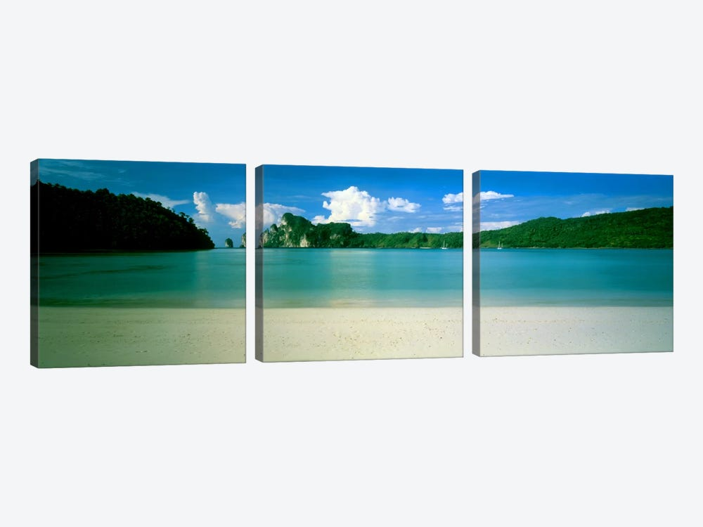 Ko Phi Phi Islands Phuket Thailand by Panoramic Images 3-piece Canvas Art Print