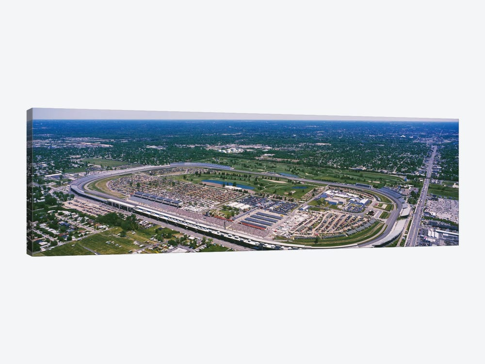 Aerial View, Indianapolis Motor Speedway (The Brickyard), Marion County, Indiana, USA by Panoramic Images 1-piece Canvas Art Print