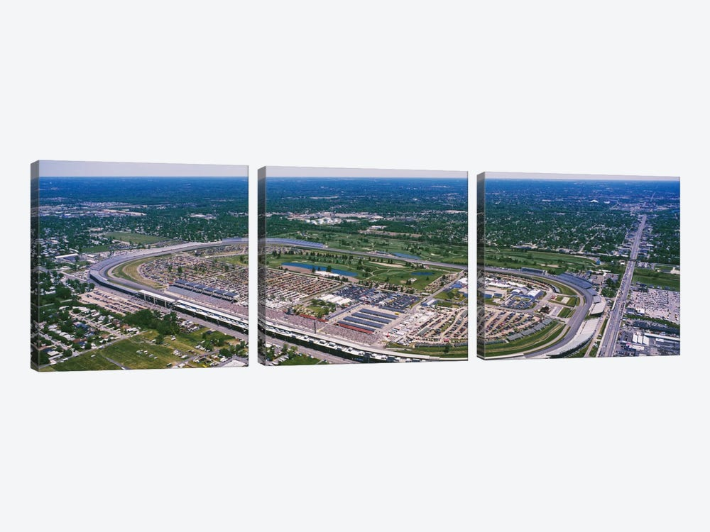 Aerial View, Indianapolis Motor Speedway (The Brickyard), Marion County, Indiana, USA by Panoramic Images 3-piece Art Print