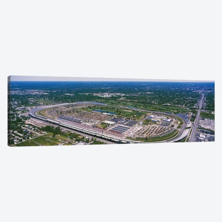 Aerial View, Indianapolis Motor Speedway (The Brickyard), Marion County, Indiana, USA 3-Piece Canvas #PIM12027} by Panoramic Images Canvas Artwork