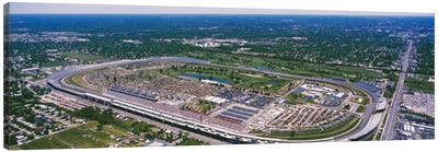 Aerial View, Indianapolis Motor Speedway (The Brickyard), Marion County, Indiana, USA Canvas Art Print