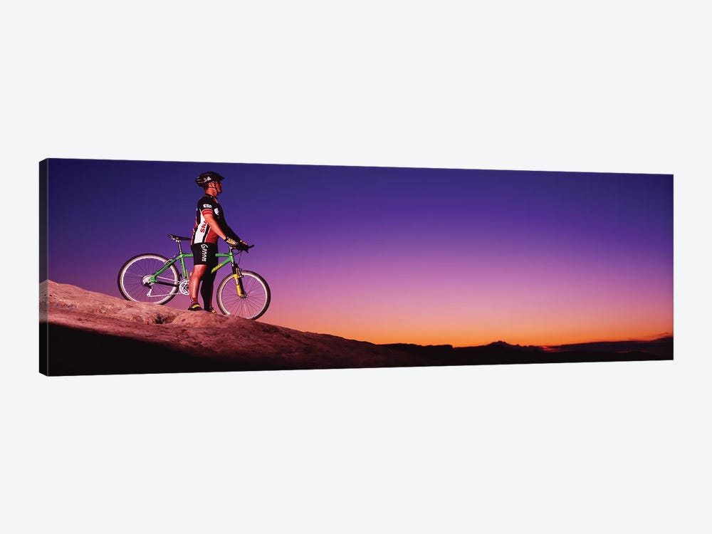 Mountain Biker Slickrock Trail Moab UT by Panoramic Images 1-piece Canvas Wall Art