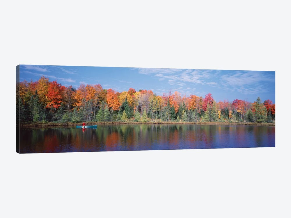 Man in Canoe near Antigo WI USA by Panoramic Images 1-piece Canvas Art Print