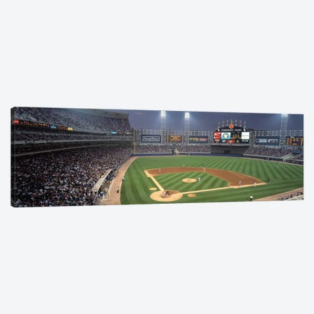 Comisky Park from home plate, USA, Illinois, Chicago, White Sox Canvas Print #PIM12032} by Panoramic Images Canvas Artwork