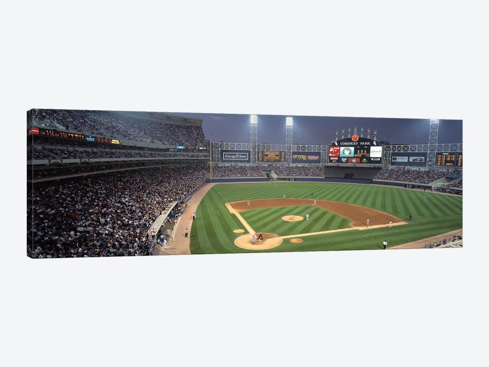 Comisky Park from home plate, USA, Illinois, Chicago, White Sox by Panoramic Images 1-piece Art Print