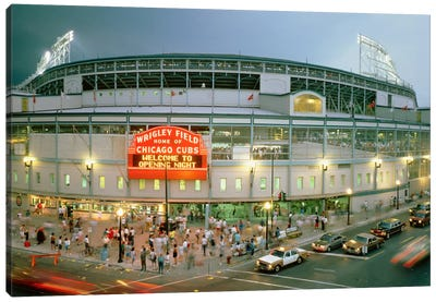Wrigley Field (From 8/8/88 - The First Night Game That Never Happened), Chicago, Illinois, USA Canvas Print #PIM12037