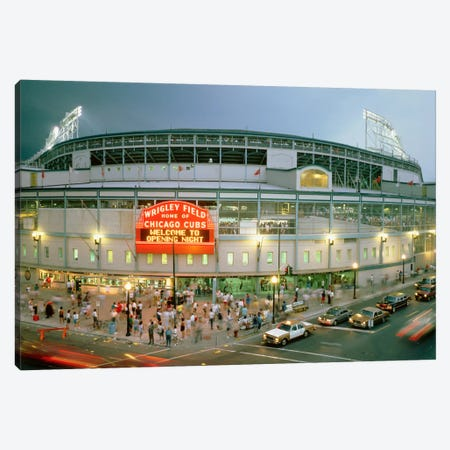 Wrigley Field (From 8/8/88 - The First Night Game That Never Happened), Chicago, Illinois, USA Canvas Print #PIM12037} by Panoramic Images Canvas Print