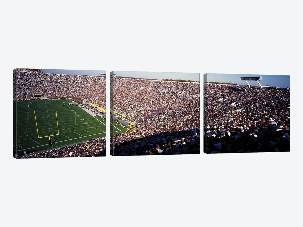 Notre Dame Stadium USA by Panoramic Images 3-piece Canvas Art