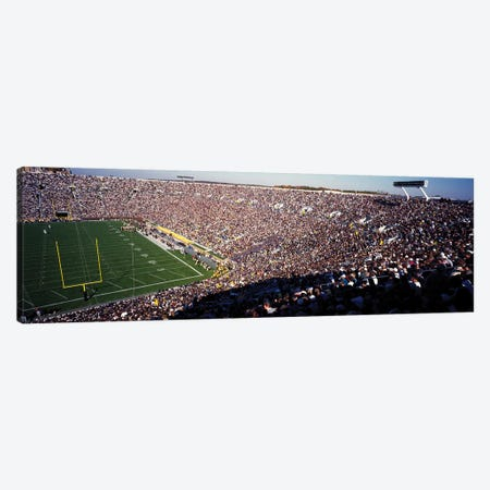 Notre Dame Stadium USA 3-Piece Canvas #PIM12039} by Panoramic Images Canvas Art