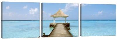 Beach & Pier The Maldives  Canvas Art Print
