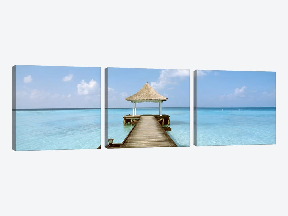 Beach & Pier The Maldives by Panoramic Images 3-piece Canvas Art