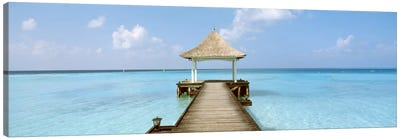 Beach & Pier The Maldives  Canvas Art Print